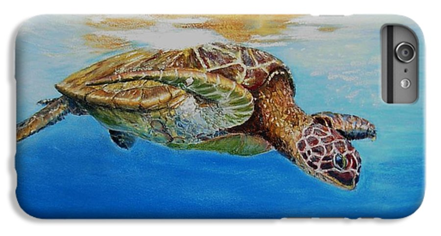 Wildlife IPhone 6s Plus Case featuring the painting Up For Some Rays by Ceci Watson