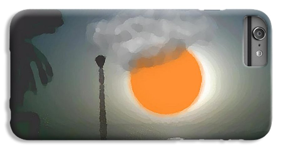 Urban.sea.sunset.sky.sun.water Sun Reflection.coast. IPhone 6s Plus Case featuring the digital art Urban Sea Sunset by Dr Loifer Vladimir