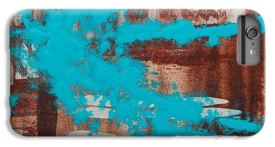 Urban IPhone 6s Plus Case featuring the painting Urbanesque II by Lauren Luna