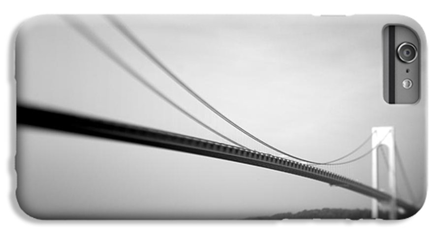 Black & White IPhone 6s Plus Case featuring the photograph Verrazano Bridge 2 by Tony Cordoza