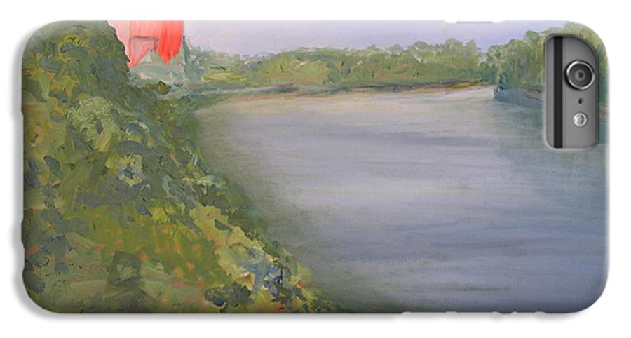 Landscape River Water Nature IPhone 6s Plus Case featuring the painting View From Edmund Pettus Bridge by Patricia Caldwell