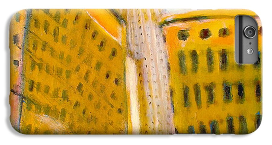 Abstract Cityscape IPhone 6s Plus Case featuring the painting View From The 33 St by Habib Ayat