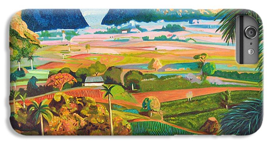 Cuban Art IPhone 6s Plus Case featuring the painting Vinales by Jose Manuel Abraham