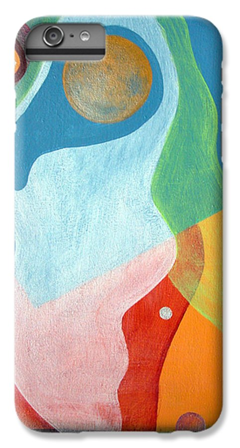 Abstract IPhone 6s Plus Case featuring the painting Voile by Muriel Dolemieux