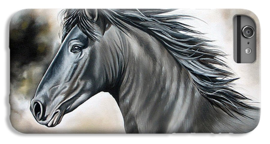 Horse IPhone 6s Plus Case featuring the painting Wanapun by Ilse Kleyn