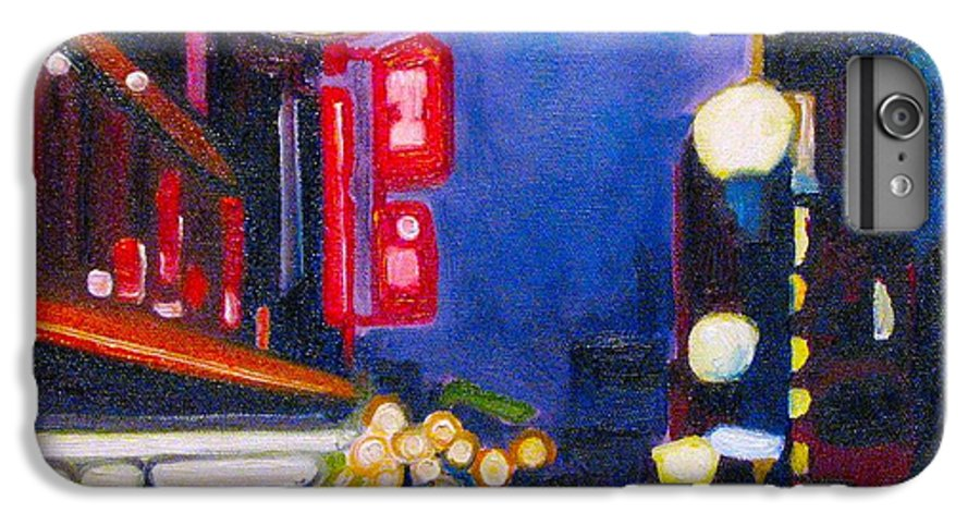 Night Scene IPhone 6s Plus Case featuring the painting Wandering At Dusk by Patricia Arroyo