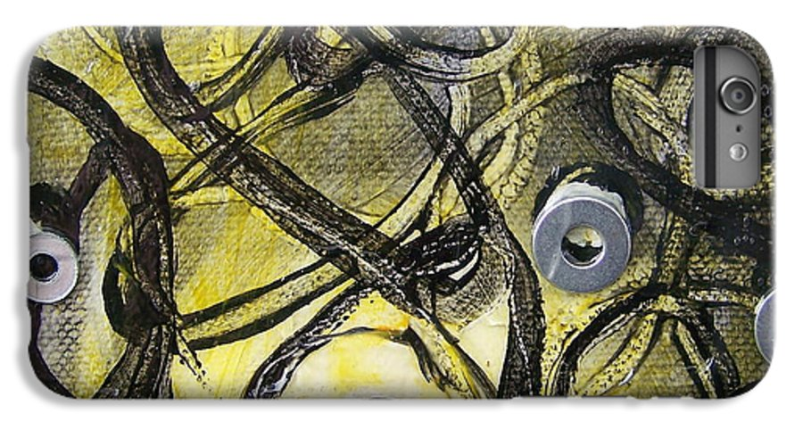 Mixed Media IPhone 6s Plus Case featuring the painting Washer Cells by Angela Dickerson
