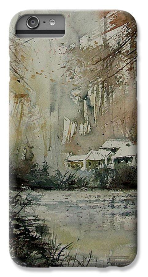 Landscape IPhone 6s Plus Case featuring the painting Watercolor 070608 by Pol Ledent
