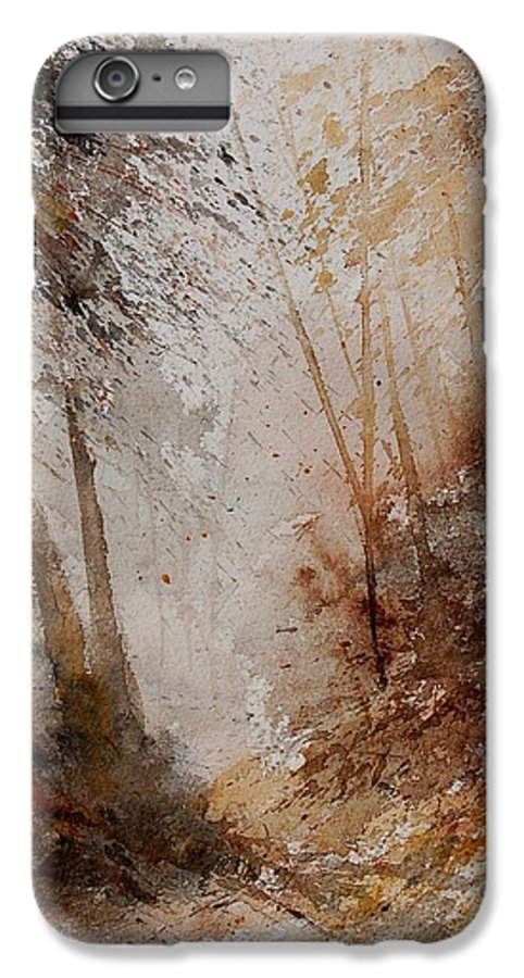 Landscape IPhone 6s Plus Case featuring the painting Watercolor Misty Path by Pol Ledent