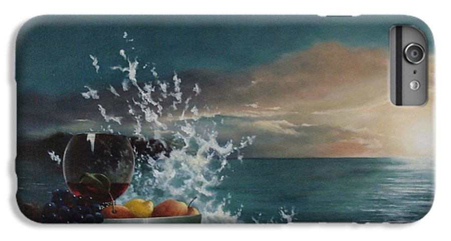Seascape IPhone 6s Plus Case featuring the painting Wave by Tjerk Reijinga