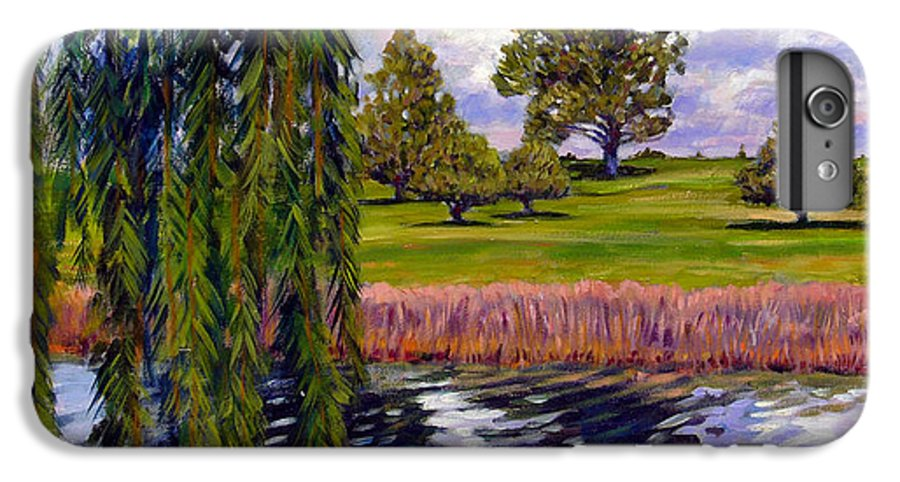 Landscape IPhone 6s Plus Case featuring the painting Weeping Willow - Brush Colorado by John Lautermilch