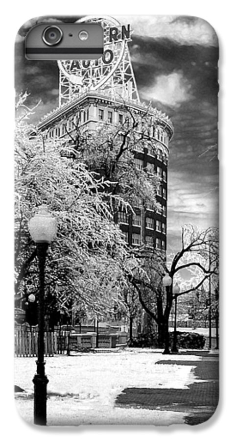 Western Auto Kansas City IPhone 6s Plus Case featuring the photograph Western Auto In Winter by Steve Karol