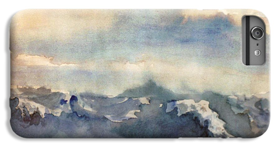 Seascape IPhone 6s Plus Case featuring the painting Where Sky Meets Ocean by Steve Karol