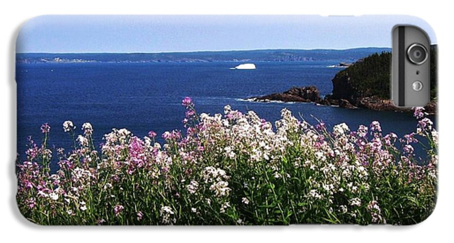 Photograph Iceberg Wild Flower Atlantic Ocean Newfoundland IPhone 6s Plus Case featuring the photograph Wild Flowers And Iceberg by Seon-Jeong Kim