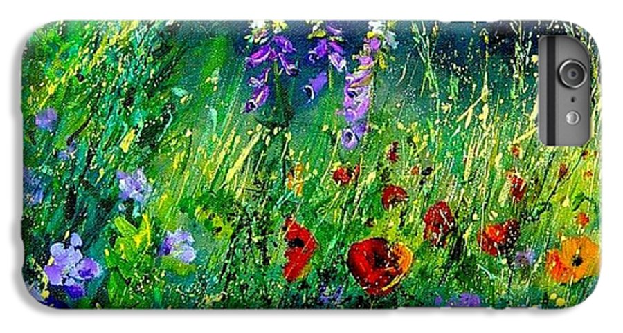 Poppies IPhone 6s Plus Case featuring the painting Wild Flowers by Pol Ledent