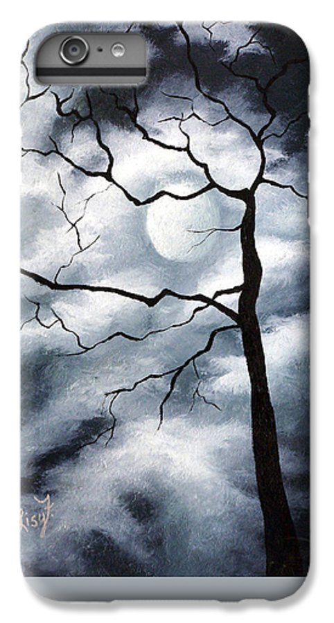 Winter IPhone 6s Plus Case featuring the painting Winter Evening by Elizabeth Lisy Figueroa