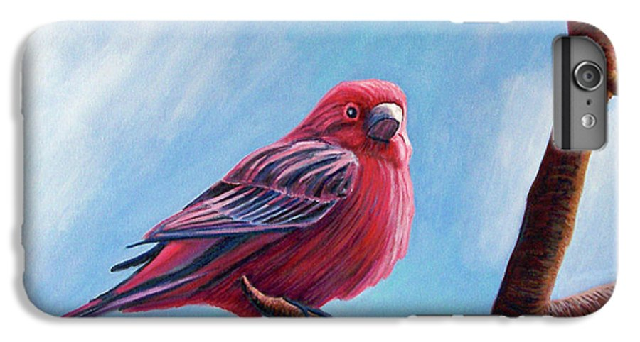 Bird IPhone 6s Plus Case featuring the painting Winter Finch by Brian Commerford
