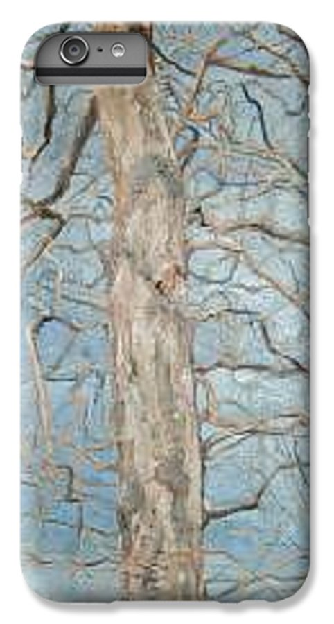 Tree IPhone 6s Plus Case featuring the painting Winter Morning by Leah Tomaino