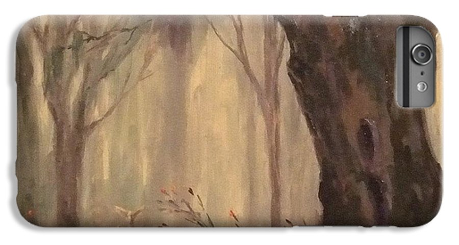 Landscape IPhone 6s Plus Case featuring the painting Woodland Fawn by Ruth Stromswold
