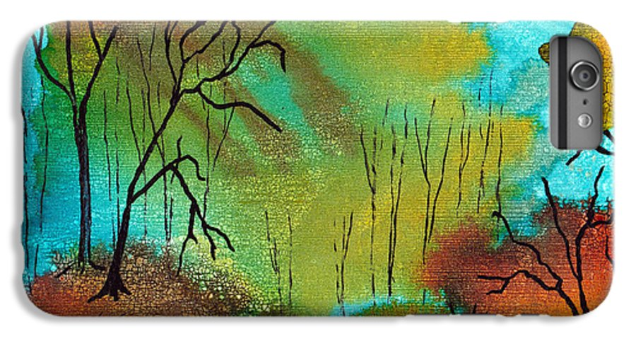 Woods IPhone 6s Plus Case featuring the mixed media Woodland Path by Susan Kubes