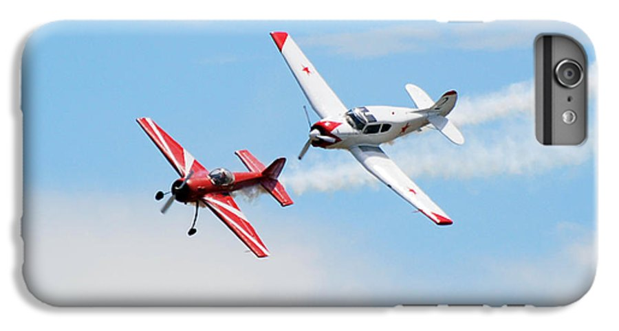 Airplanes IPhone 6s Plus Case featuring the photograph Yak 55 And Yak 18 by Larry Keahey