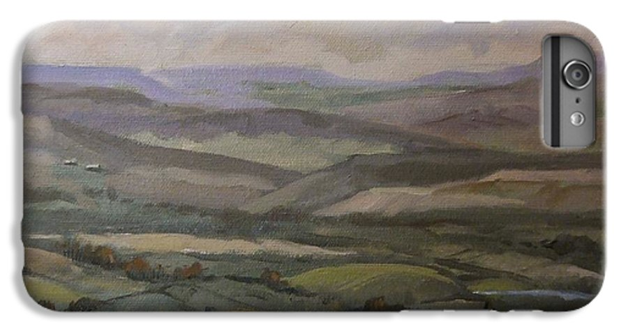 Landscape Water Trees Sky Hills IPhone 6s Plus Case featuring the painting Yakima Vista by Ruth Stromswold