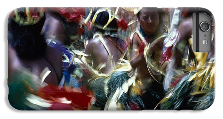 Swirling IPhone 6s Plus Case featuring the photograph Yap Dancers In Micronesia by Carl Purcell