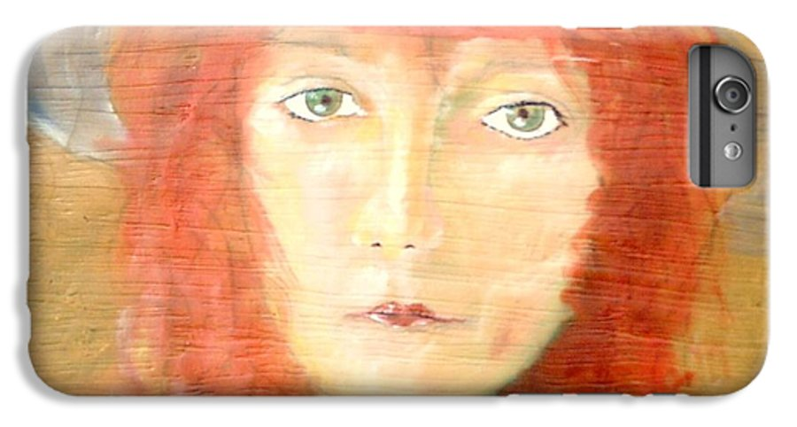 Woman IPhone 6s Plus Case featuring the painting You Found My Hat by J Bauer