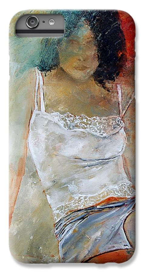 Nude IPhone 6s Plus Case featuring the painting Young Girl Sitting by Pol Ledent