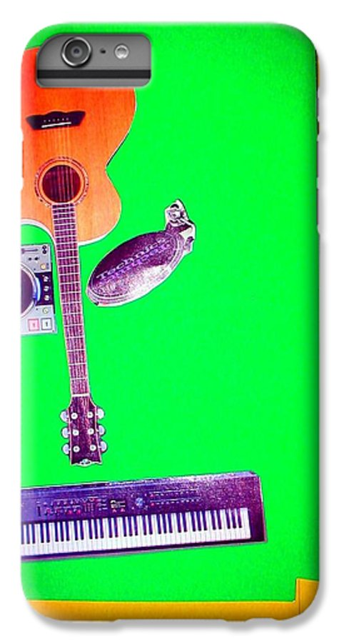 Music IPhone 6s Plus Case featuring the mixed media Yvie's Music Mask by Debra Bretton Robinson