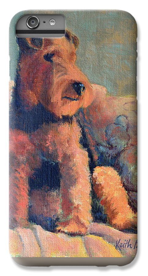 Pet IPhone 6s Plus Case featuring the painting Zuzu by Keith Burgess