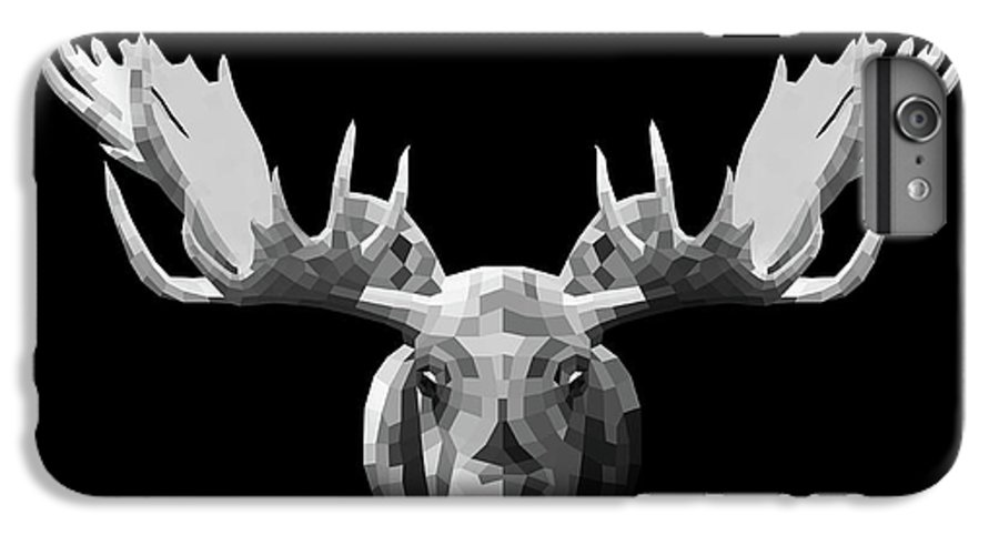 Moose IPhone 6s Plus Case featuring the digital art Night Moose by Naxart Studio