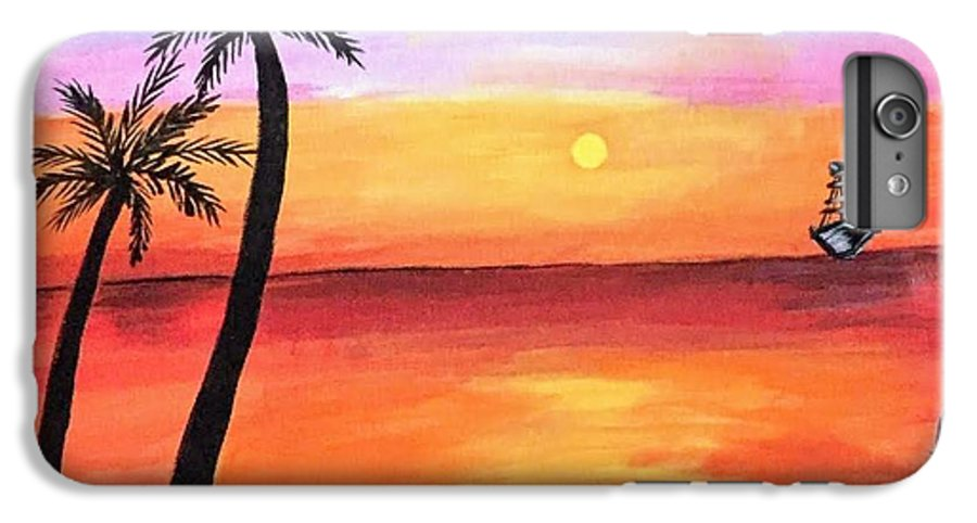 Canvas IPhone 6s Plus Case featuring the painting Scenary by Aswini Moraikat Surendran