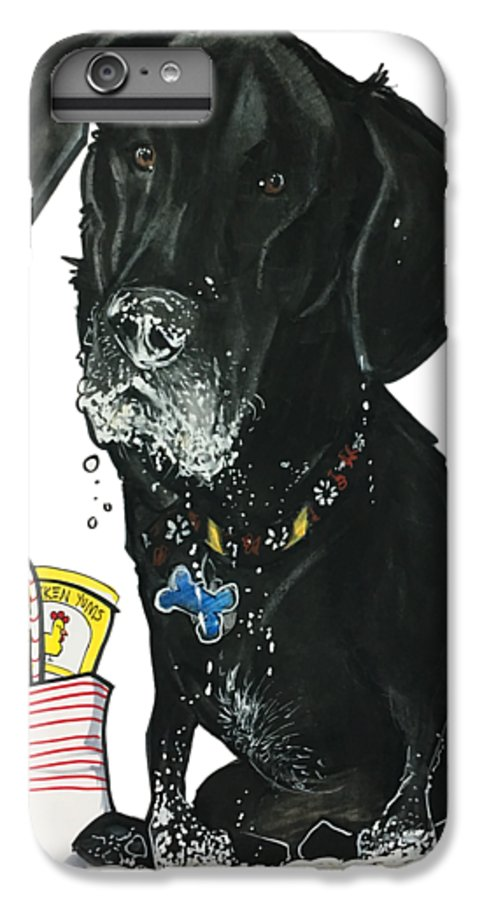 Smiley-dixon 4794 IPhone 6s Plus Case featuring the drawing Smiley-dixon 4794 by John LaFree