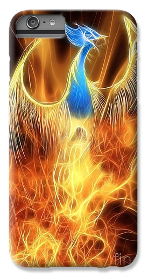 Mythology IPhone 6s Plus Case featuring the digital art The Phoenix Rises From The Ashes by John Edwards
