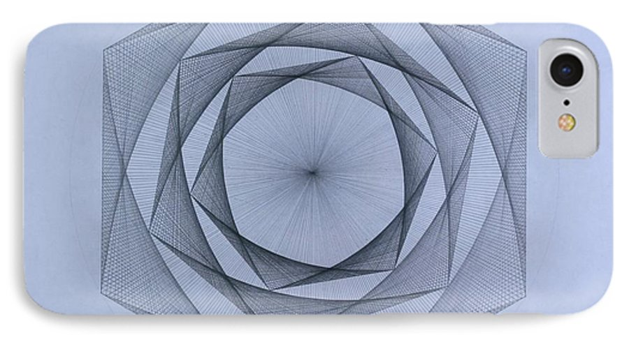 Jason Padgett IPhone 7 Case featuring the drawing  Energy Spiral by Jason Padgett
