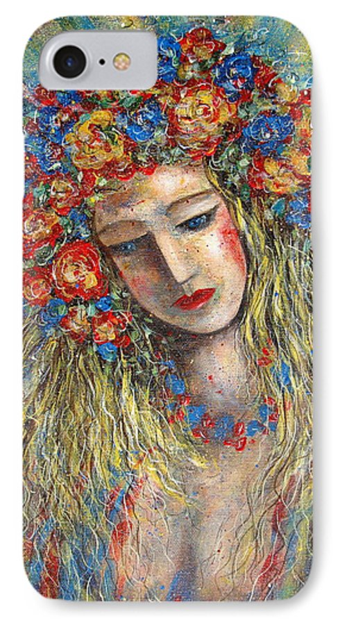 Painting IPhone 7 Case featuring the painting The Loving Angel by Natalie Holland