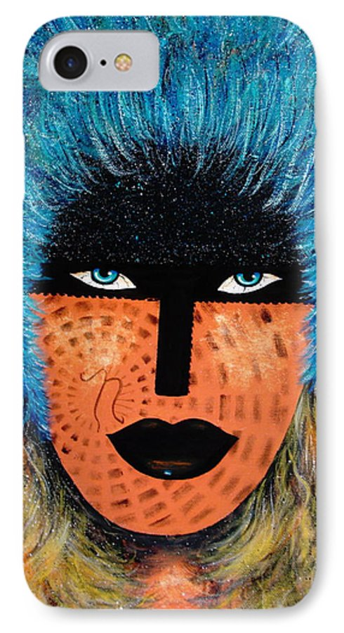 Woman IPhone 7 Case featuring the painting Viva Niva by Natalie Holland