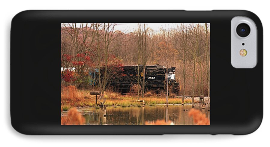 Train IPhone 7 Case featuring the photograph 080706-57 by Mike Davis