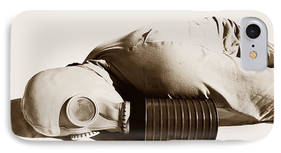 Soldier IPhone 7 Case featuring the photograph A Vintage Death by Jorgo Photography - Wall Art Gallery