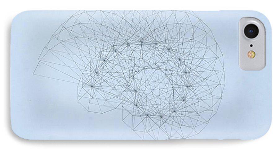 Jason Padgett IPhone 7 Case featuring the drawing Quantum Nautilus by Jason Padgett
