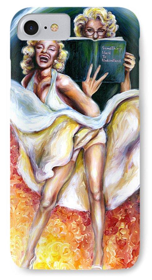 Marilyn Monroe Parody IPhone 7 Case featuring the painting 12 Signs Series Gemini by Hiroko Sakai