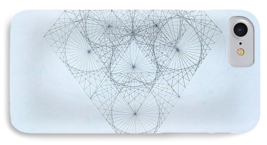 Jason Padgett IPhone 7 Case featuring the drawing Diamond Quanta by Jason Padgett