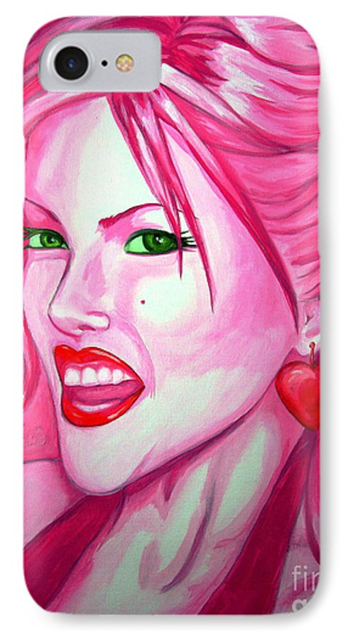 Anna Nicole IPhone 7 Case featuring the painting Anna by Holly Picano