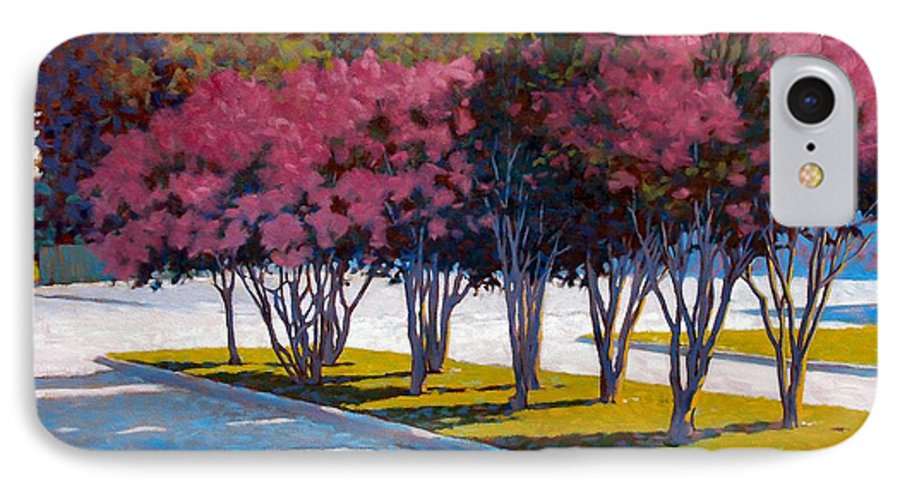 Crepe Myrtles IPhone 7 Case featuring the painting Balanced Account by Kevin Lawrence Leveque