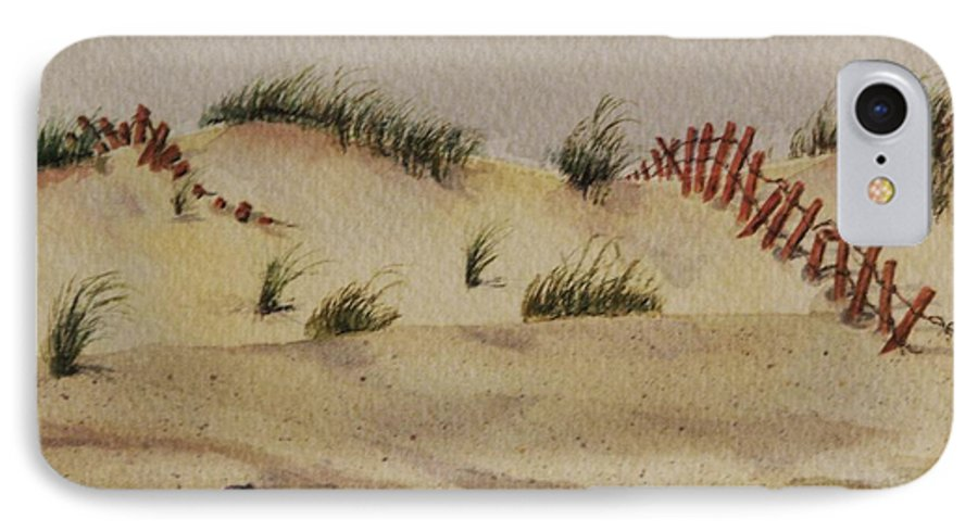 Sand IPhone 7 Case featuring the painting Dunes by Mary Ellen Mueller Legault