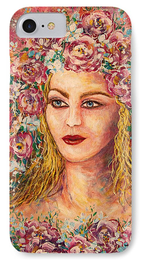 Goddess IPhone 7 Case featuring the painting Good Fortune Goddess by Natalie Holland