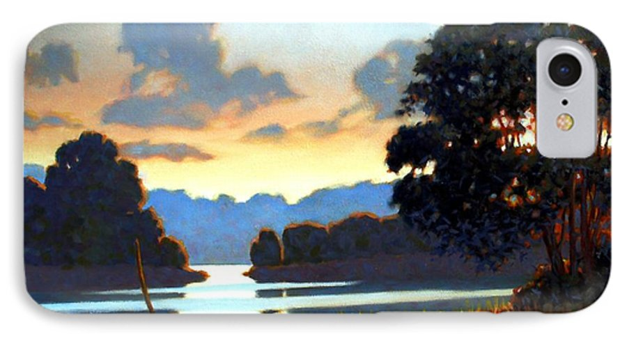 Landscape IPhone 7 Case featuring the painting Grassy Point by Kevin Lawrence Leveque
