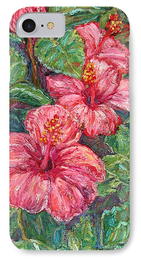 Hibiscus IPhone 7 Case featuring the painting Hibiscus by Kendall Kessler