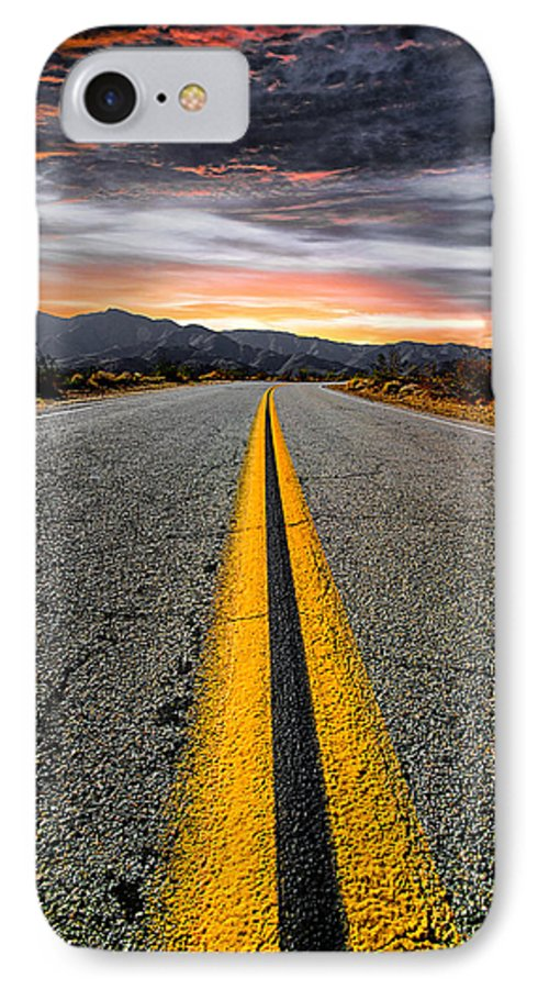 Road IPhone 7 Case featuring the photograph On Our Way by Ryan Weddle